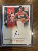2019-20 Impeccable Rui Hachimura Rookie Auto FOTL  /99 Washington Wizards RC