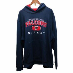 Springfield Falcons Hockey AHL Reebok Face Off Hoodie Sweatshirt Men's 2XL