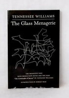 The Glass Menagerie by Tennessee Williams definitive text notes used paperback