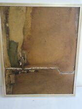 """technique mixte de EVELYN ORTLIEB (1925 - 2008) ;""""HIATUS VERT""""Format 61x50 cm"""