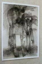 Original Poster Printout of Zdzisław Beksinski drawing on satin paper 3