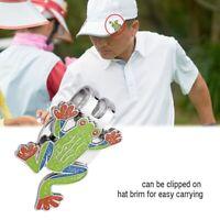 Multi-function Metal Magnetic Ball Marker Golfer Hat Visor Clip Golf Accessory