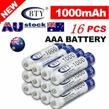 16X BTY AAA Rechargeable Battery Recharge Batteries 1.2V 1000mAh Ni-MH AU Stock