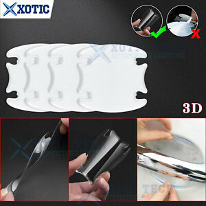 4Pcs 3D Auto Scratch Protect Door Handle Cover Sticker Film For BMW 3 5 7 Series