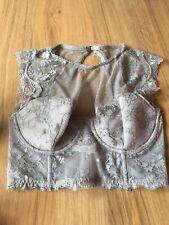 Victoria's Secret Bralette 32DD Dream Angels High Neck Mink Lace BNWT