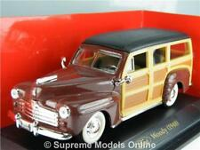 FORD WOODY 1948 CAR MODEL 1:43 SIZE ROAD SIGNATURE EXAMPLE USA T3412Z(=)
