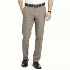 Men's Van Heusen Traveler Slim-Fit Flat-Front Dress Pants, 33X30, Taupe, NWT