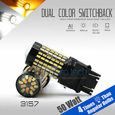 3157 High Power White Amber Dual Color Switchback LED Turn Signal Light Bulbs