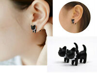 1PC Cute Stereoscopic Pearl Cat Kitten Impalement Ear Stud Earring Punk Cool