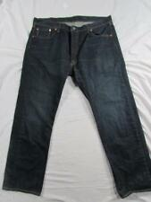 Levi 501 Button Fly Straight Leg Faded Denim Jeans Tag 40x30 Measure 40x30