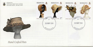 Bermuda 2019 FDC Hand Crafted Hats 4v Cover Fashion Cultures Traditions Stamps