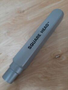 "WYCO 2"" Square Head W878-563 Concrete Vibrator Replacement Head 13"" length"