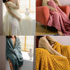 Soft Sofa Warm Knitted Thread Blanket Air Conditioning Office Home Throw Blanket