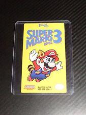 Super Mario Bros 3 Nes Cartridge Replacement Game Label Sticker Precut