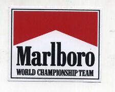 Adesivo Formula 1 MARLBORO WORLD CHAMPIONSHIP TEAM F1 sponsor sticker anni 80