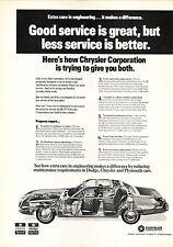 Chrysler Service--1973 Advertisement