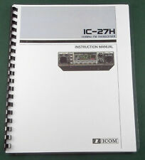 Icom IC-27H Instruction Manual: Comb Bound with Protective Covers!