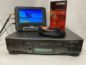 Hitachi VCR Model VT-FX613A 4 Head with Cables - Tested and Working
