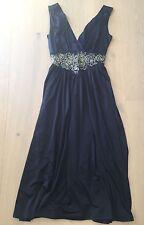 SHEIKE BLACK GRECIAN DRESS SZ. 8