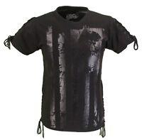 Mens Black Alternative Print Logo Cotton T Shirt