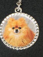 """Pomeranian Dog Charm Tibetan Silver with 18"""" Necklace B"""