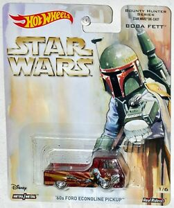 Hot Wheels 2017 Star Wars Bounty Hunter Boba Fett 60s Ford Econoline Pickup MOC