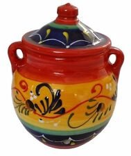 Garlic Storage Jar Kitchenware 16 cm X 15 cm Spanish Handmade Ceramic Pottery
