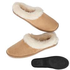 NEW XL 11 12 CHARTER CLUB Tan Microvelour Clog Slippers Memory Foam Fur Womens