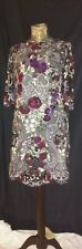 DOLCE AND GABBANA - FLORAL/KEYS EMBROIDERED LACE DRESS - SIZE UK 10 EURO 42