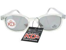 KD's Sunglasses Original Biker Shades Clear Frame Mirror Lens Chill 2200