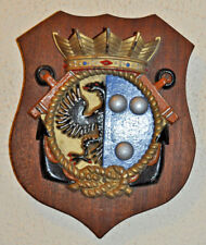 Hr Ms Tjerk Hiddes plaque shield crest Dutch Navy Netherlands gedenkplaat HNLMS