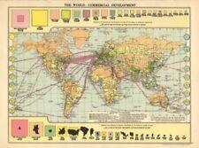 1920-1929 Date Range Antique World Maps & Atlases