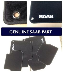 Genuine Saab 9-3 Convertible MAT Set - 2003 -2012 - 12825835 BRAND NEW - BLACK