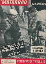 Moto 10/63 1963 honda CB 77 Scott imola Coppa d 'oro bmw r69s carreras de motos