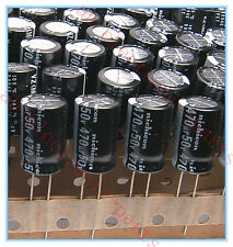 (10pcs) 470uf 50v Nichicon Electrolytic Capacitors 50v470uf ( Upgrade 35V 25V )