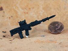 GI Joe 1:18 Action Figur 3.75 British Army Assault Rifle L85A2 SA80 Knife G19_Y