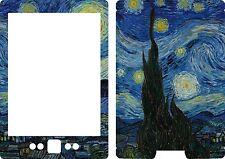 New Kindle 4 book Skin Cover Vinyl Sticker Starry Night Van Gogh KIN69 2007