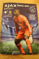 old PROGRAMME CL Ajax Amsterdam - BVB Borussia Dortmund 2012 Holland Germany