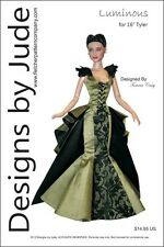 """Luminous Doll Clothes Sewing Pattern for 16"""" Tyler Fashion Dolls Tonner"""