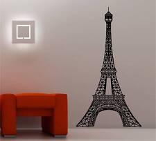HUGE EIFFEL TOWER wall art sticker vinyl LOUNGE BEDROOM