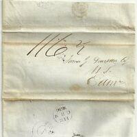# 1836  CHARLES MONRO LETTER STONEHAVEN UNIQUE CIRCULAR POSTMARK TO EDINBURGH