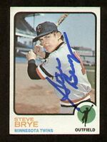 Steve Brye #353 signed autograph auto 1973 Topps Baseball Trading Card
