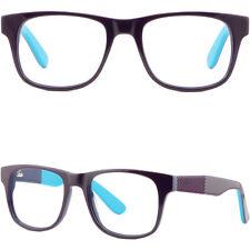 Large Wide Womens Plastic Frames Spring Hinges Rectangle Huge Purple Eye Glasses