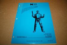 Data East Last Action Hero Pinball Machine Nos manual
