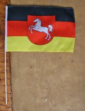 Stock-Flagge/Fahne Niedersachsen  ca.37 x 27 cm Polyester & Holzstab ca.50 cm