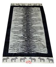 Telo mare spugna zebrato bianco nero zebra cm 90x180 adm