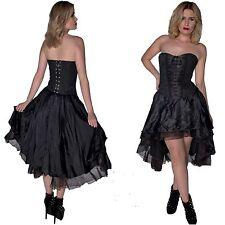 GOTHIC BLACK BASQUE CORSET DRESS ALTERNATIVE PROM HALLOWEEN