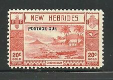 Album Treasures New Hebrides Scott # J8 20c Postage Due Mint Lightly Hinged