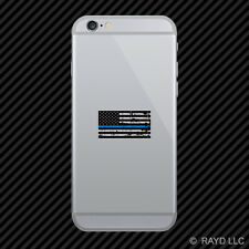 Tattered Thin Blue Line Subdued American Flag Cell Phone Sticker Mobile Police