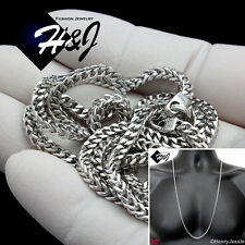 """30""""MEN 925 STERLING SILVER 3.5MM SILVER FRANCO BOX CURB LINK CHAIN NECKLACE*SN9"""